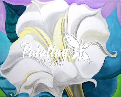 Paint georgia okeeffes white trumpet flower this friday paint georgia okeeffes white trumpet flower this friday sammys mightylinksfo